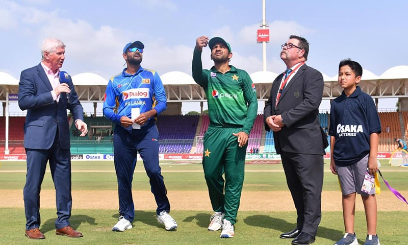 Sri Lanka won the toss and opted to bat first. — Photo courtesy PCB Twitter