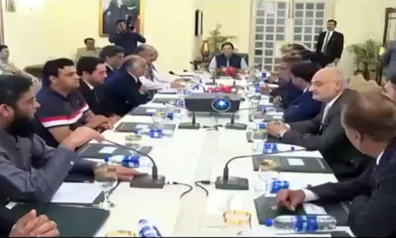 Prime Minister Imran Khan on Thursday said that a strategy has been prepared to remove the business community's reservations about the National Accountability Bureau (NAB), Radio Pakistan reported. — Photo courtesy Radio Pakistan