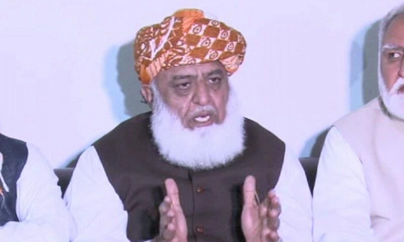 مولانا فضل الرحمٰن نے حکومت مخالف آزادی مارچ کا اعلان کردیا — فوٹو:ڈان نیوز