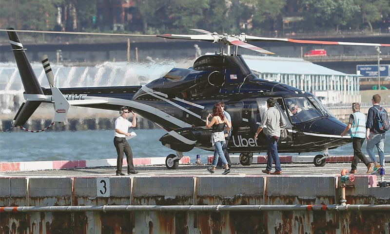 Uber goes airborne with helicopter taxis in New York