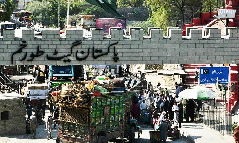 Hundreds of vehicles loaded with goods remained stranded on Peshawar-Torkham Highway and at private parking places in Landi Kotal owing to an unspecified row between the border authorities of Pakistan and Afghanistan over the release of vehicles from both sides of Torkham. — AFP/File