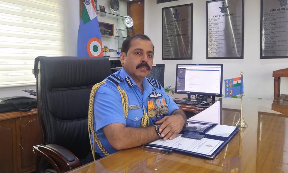 Indian Air Force chief Rakesh Kumar Bhadauria. — Photo via Indian Air Force Twitter