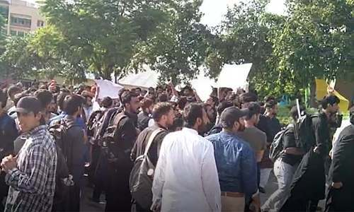 Protest held in Islamabad's Comsats University over alleged negligence after student dies of cardiac arrest