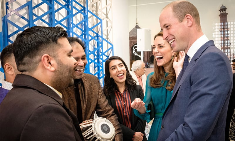 The Duke and Duchess of Cambridge, Prince William and Kate Middleton, meeting a range of people from Pakistan at the Pakistan High Commission in London on Wednesday. — Kensington Palace Twitter account