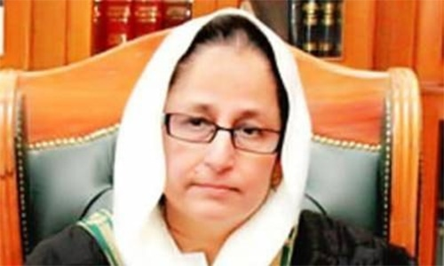 Justice Syed Tahira Safdar was the first female chief justice of Balochistan. — BHC website/File