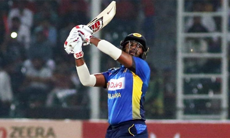 Debutant Bhanuka Rajapaksa hitting a big one. — PCB