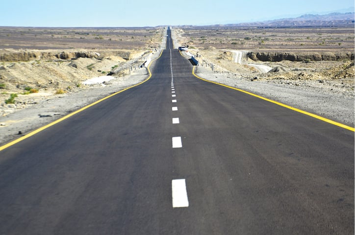 The Gwadar-Panjgur Highway, also known as M-8 | White Star