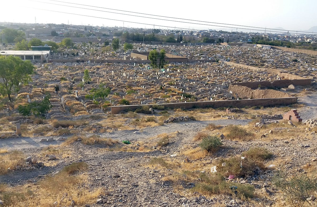 The graveyard where Hafeez and Ram Jaane are burried | Photo by the author