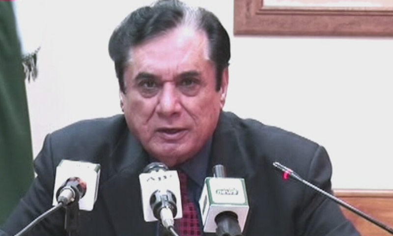 National Accountability Bureau (NAB) Chairman Javed Iqbal addressing a press conference in Islamabad on Sunday, October 6. — DawnNewsTV