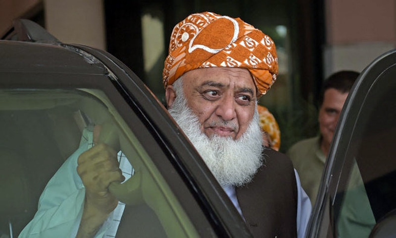 JUI-F chief Maulana Fazlul Rehman has announced to set out on a long march against the government on October 27. — AFP/File
