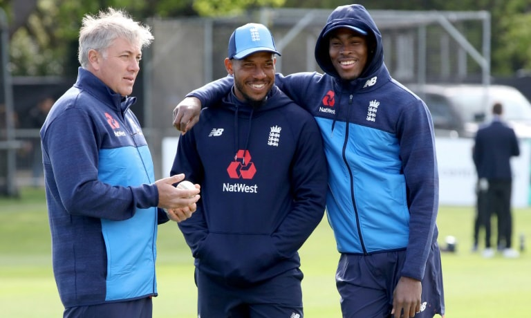 Chris Silverwood (left) has been named as England's new coach. — AFP/File