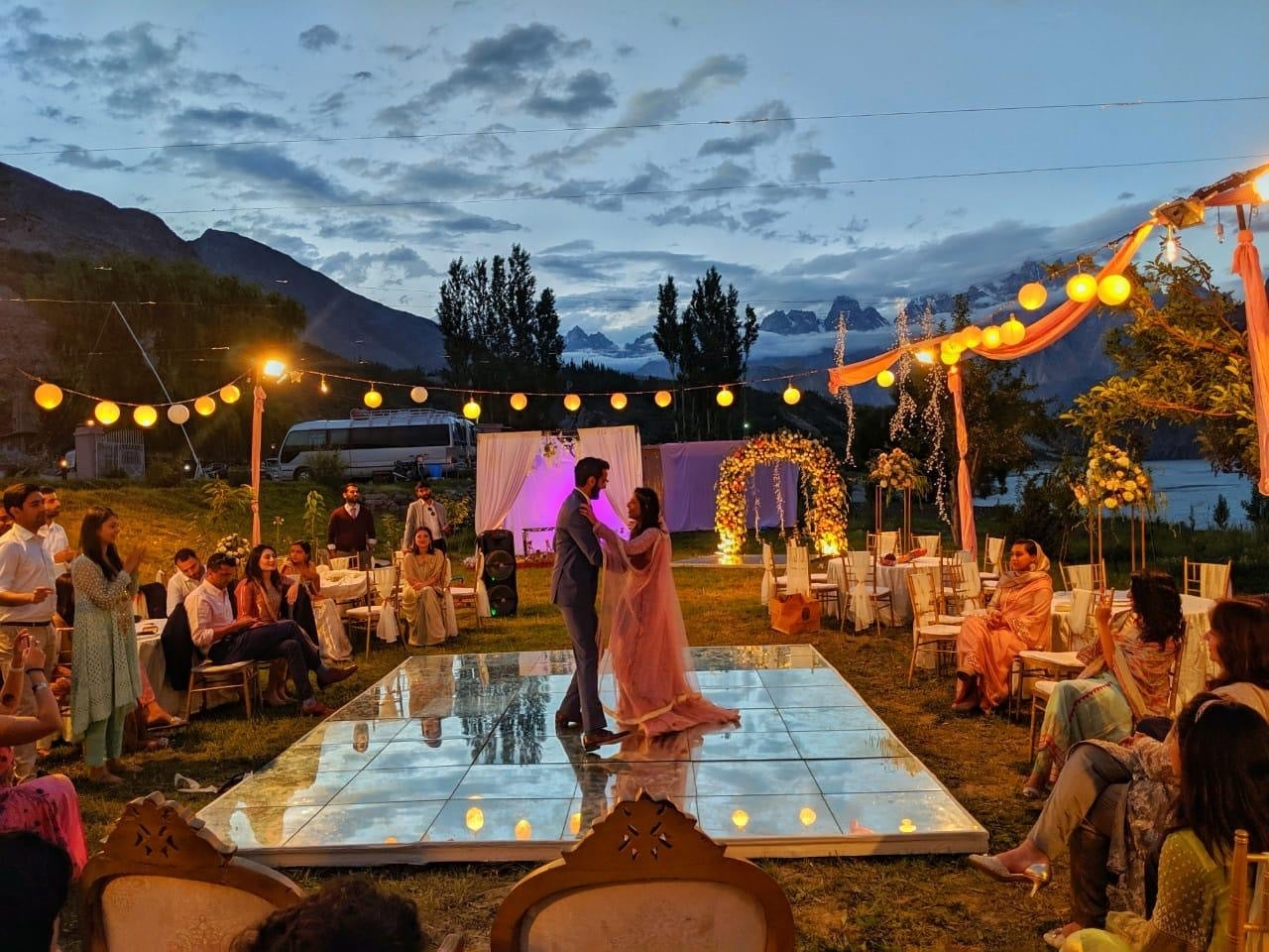 A & W on their wedding in Hunza.