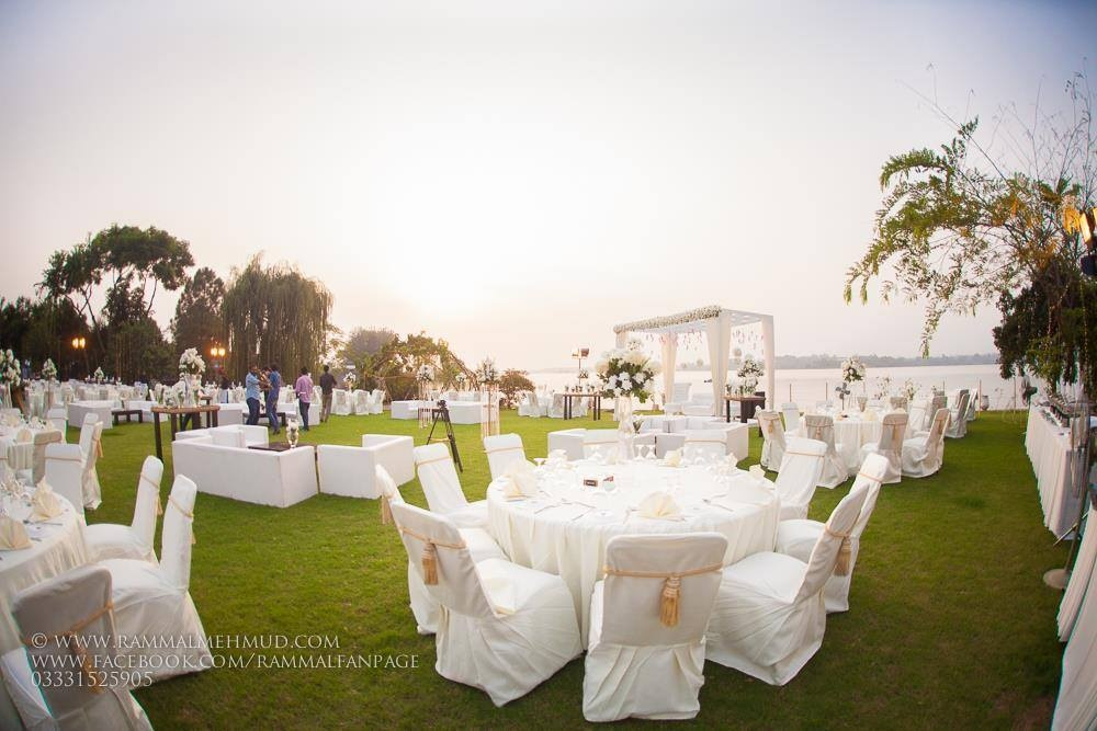 Lakeside wedding by Mirador in Banigala, Islamabad.