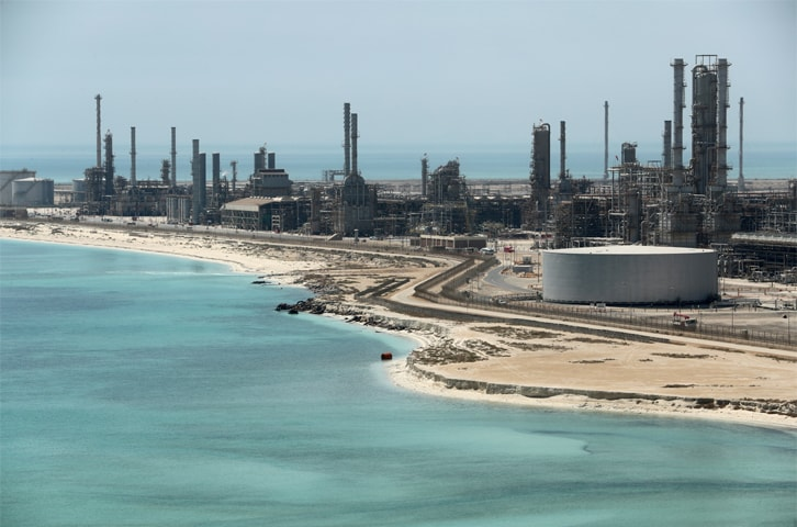 General view of Saudi Aramco's Ras Tanura oil refinery and oil terminal in Saudi Arabia.—Reuters