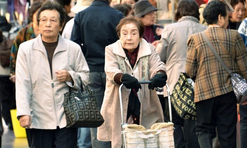 جاپان کو طویل العمر افراد کا ملک کہا جاتا ہے —فوٹو: اے ایف پی