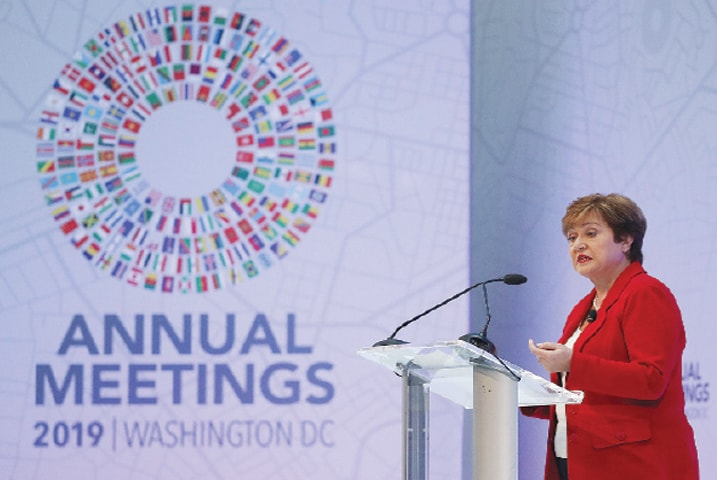 WASHINGTON: IMF Managing Director Kristalina Georgieva speaks about the key issues to be addressed at the upcoming IMF/World Bank Annual Meetings.