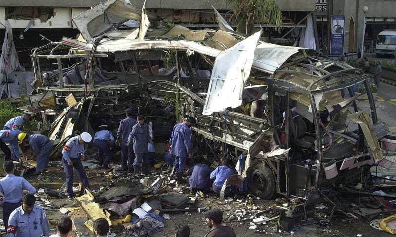 فرانسیی انجینئرز کی بس پر حملہ ستمبر 2001 میں امریکا میں ہونے والے حملوں کے فوراً بعد ہوا —فائل فوٹو: اے ایف پی