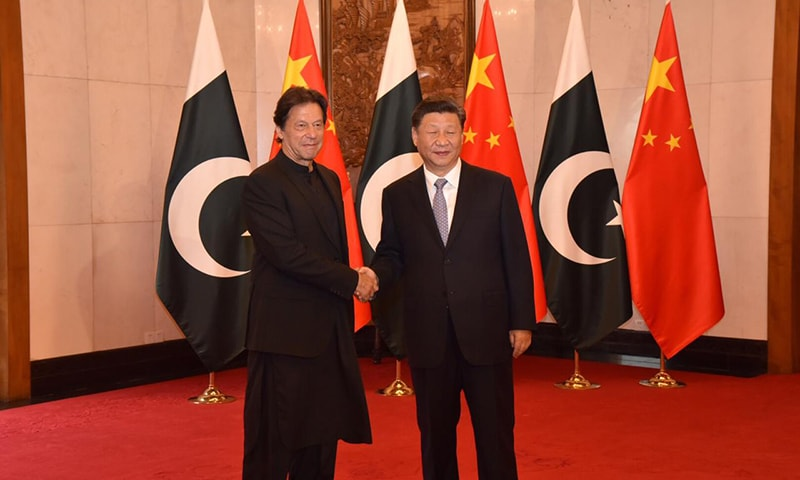 Prime Minister Imran Khan on Wednesday met with Chinese President Xi Jinping in Beijing. — Photo provided by Naveed Siddiqui