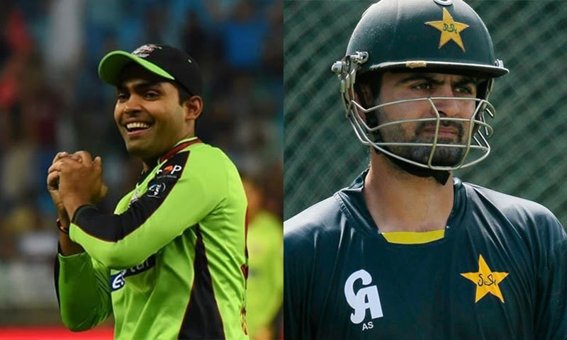 Umar Akmal and Ahmed Shehzad.