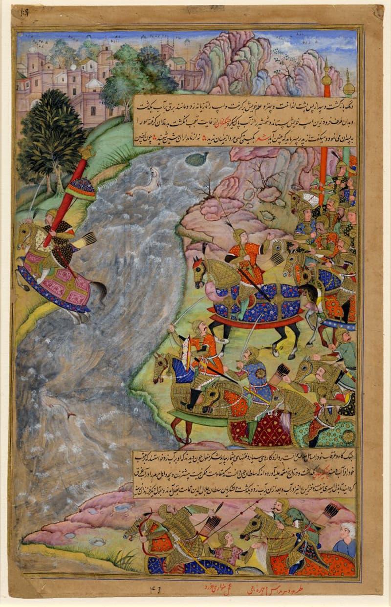 سلطان جلال الدین نے 500 گھڑ سواروں کے لشکر کے ساتھ دریائے سندھ کو پار کیا