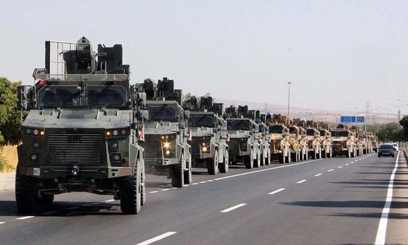 شام میں ترکی نے فضائی کارروائی سے آپریشن شروع کیا—فوٹو:رائٹرز