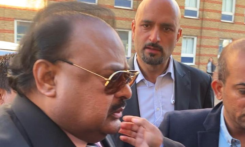 Muttahida Qaumi Movement (MQM) founder Altaf Hussain appeared at a police station in London on Thursday. — Photo by author