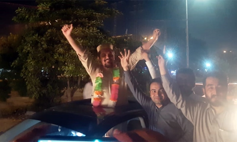 A doctor celebrates his release along with his well wishers. — Photo provided by author