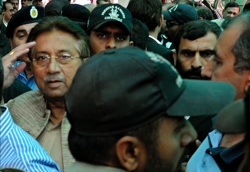 Pervez Musharraf appears in court in Islamabad in 2013 | White Star
