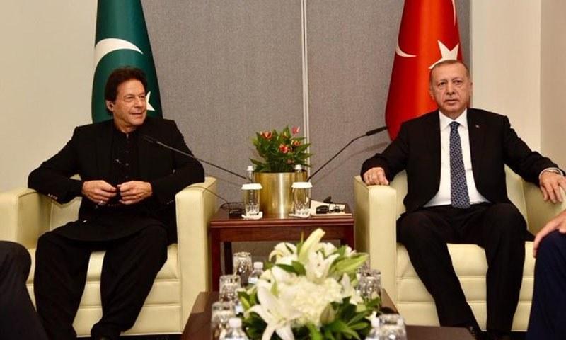 ترک صدر اور پاکستانی وزیراعظم کی ملاقات اقوامِ متحدہ کی جنرل اسمبلی کے اجلاس کے موقع پر ہوئی تھی—فائل فوٹو: پی آئی ڈی