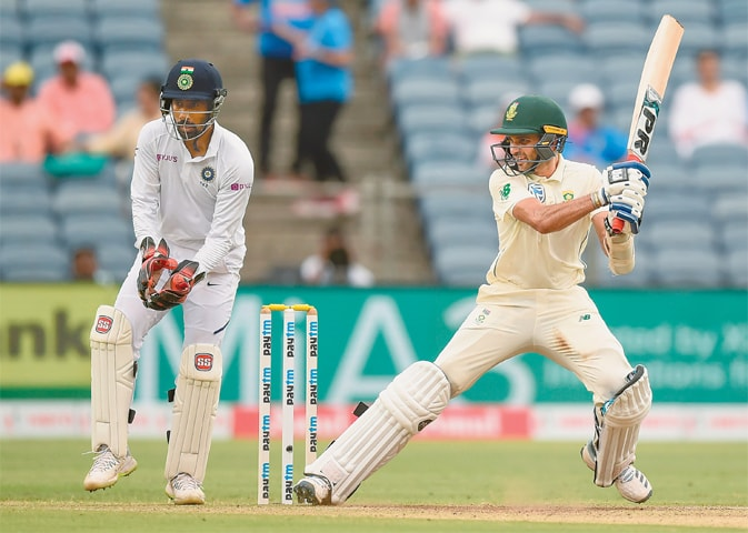 Maharaj overcomes pain barrier but India on course for victory