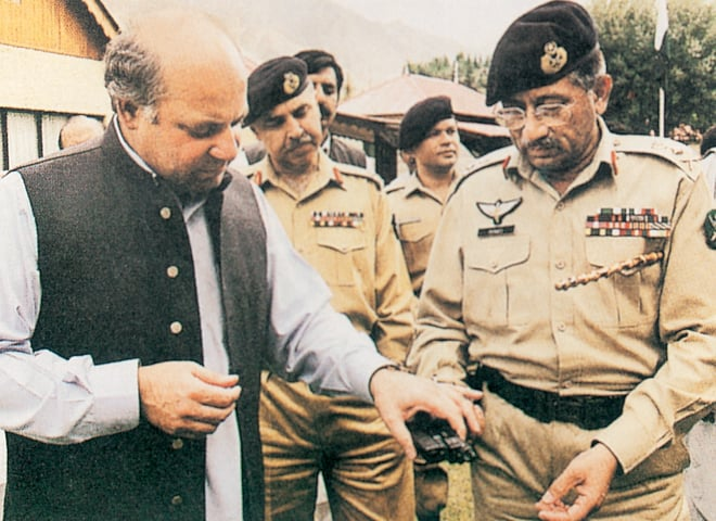 Nawaz Sharif and Gen Pervez Musharraf before the general ousted him | White Star