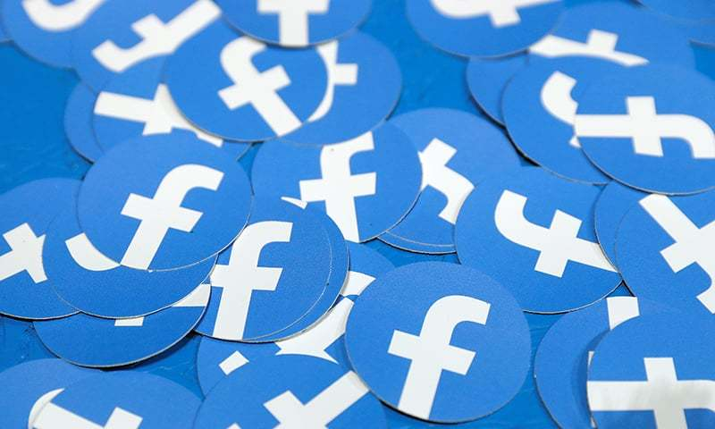 Stickers bearing the Facebook logo are pictured at Facebook Inc's F8 developers conference in San Jose, California, US, April 30, 2019. — Reuters /File