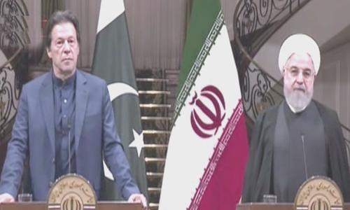 حسن روحانی نے کہا کہ سیکیورٹی اور امن و امان سے متعلق صورتحال پر بھی گفتگو ہوئی —فوٹو: ڈان نیوز
