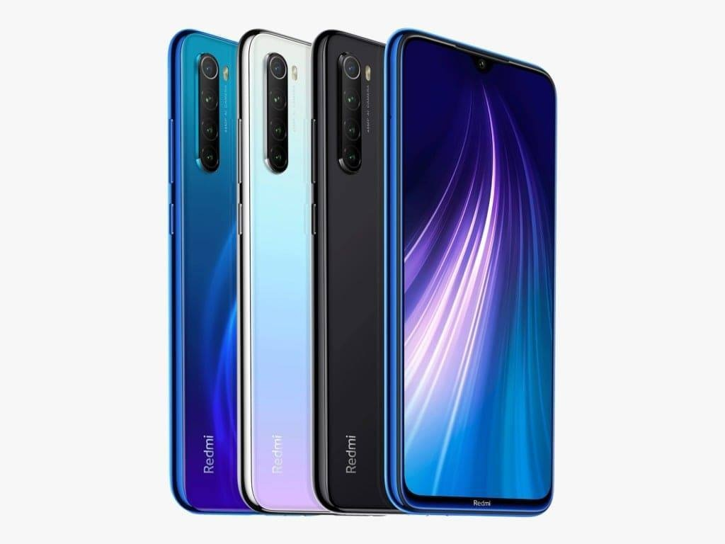 Redmi Note 8 in Space Black, Neptune Blue, and Moonlight White will be available in 4GB + 64GB, and 4GB + 128GB starting at Rs29,999.