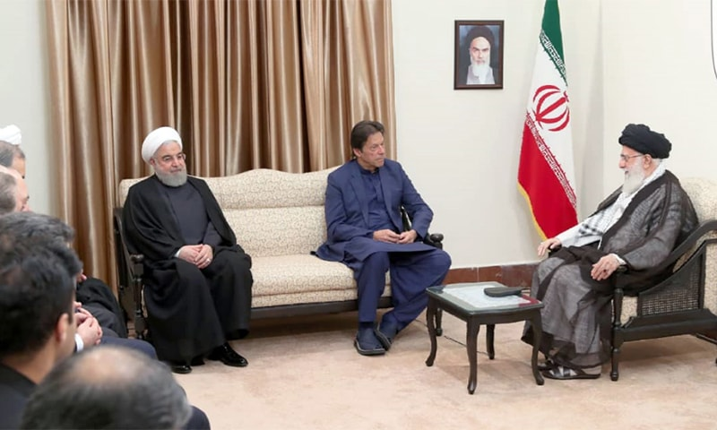Prime Minister Imran Khan in a meeting with Ayatollah Ali Khamenei. — PM Office