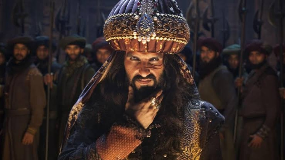 Ranveer Singh as Khilji in Padmaavat.