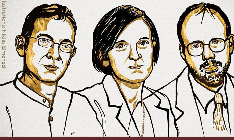 تینوں سائنسدانوں میں تقریبا 10 لاکھ امریکی ڈالر کی رقم تقسیم کی جائے گی —فوٹو: نوبیل پرائز ٹوئٹر