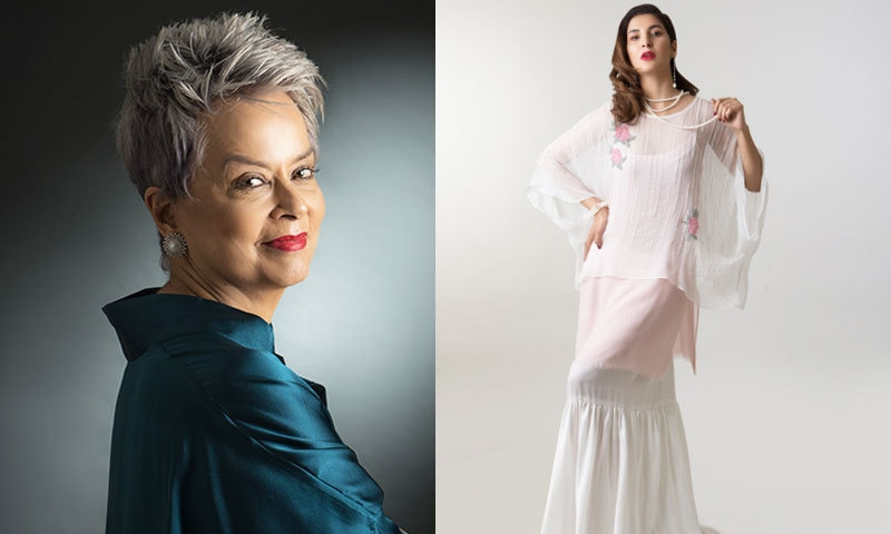ماہین خان دیدہ زیب مشرقی لباس ڈیزائن کرنے کی ماہر ہیں—فوٹو: اونیٹا