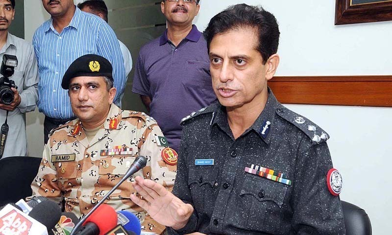 Former Karachi police chief Shahid Hayat. — Dawn/File