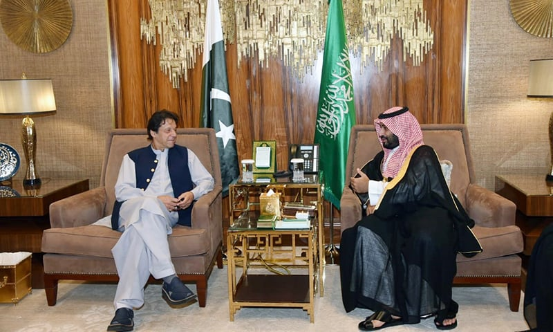 PM Imran arrives in Saudi Arabia as part of 'peace initiative'