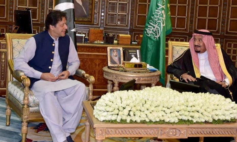 عمران خان کی شاہ سلمان سے ریاض میں ملاقات ہوئی — فوٹو: نوید صدیقی