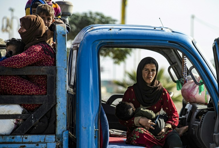 Tens of thousands of Syrian civilians have fled the fighting. ─ AFP