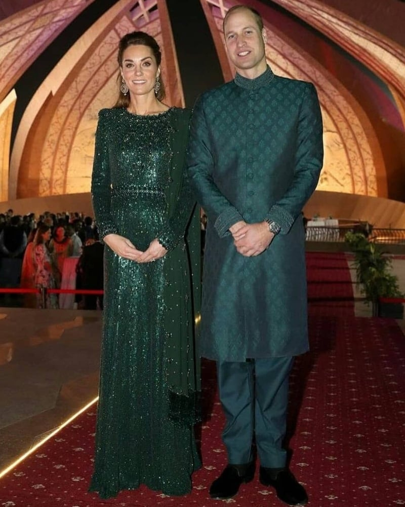 The Duke and Duchess of Cambridge at the evening reception hosted by British High Commissioner, Thomas Drew.