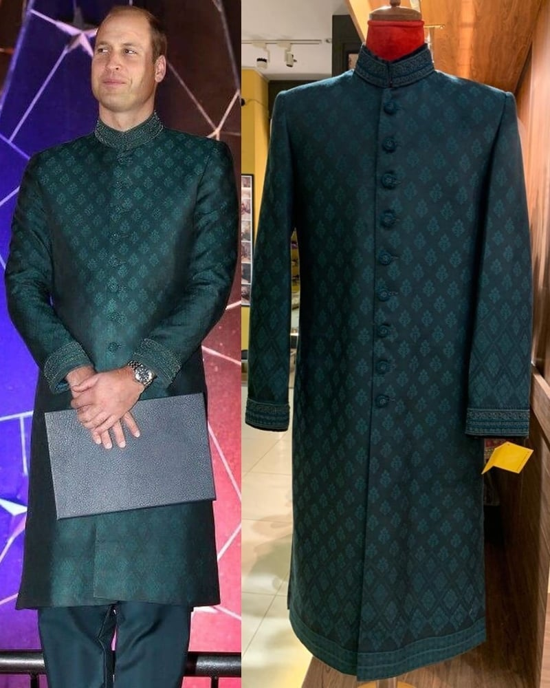 The hand-embroidered sherwani was ready within two days of getting the order.