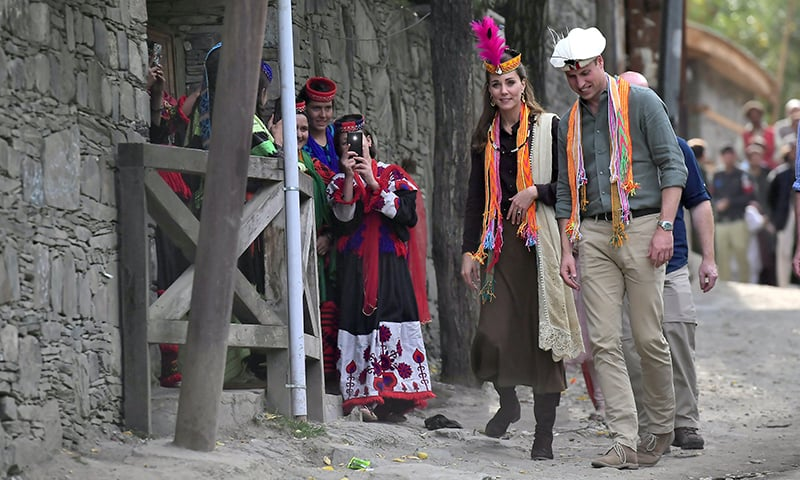 Prince William and Kate visit a settlement of the Kalash people in Chitral. — Reuters