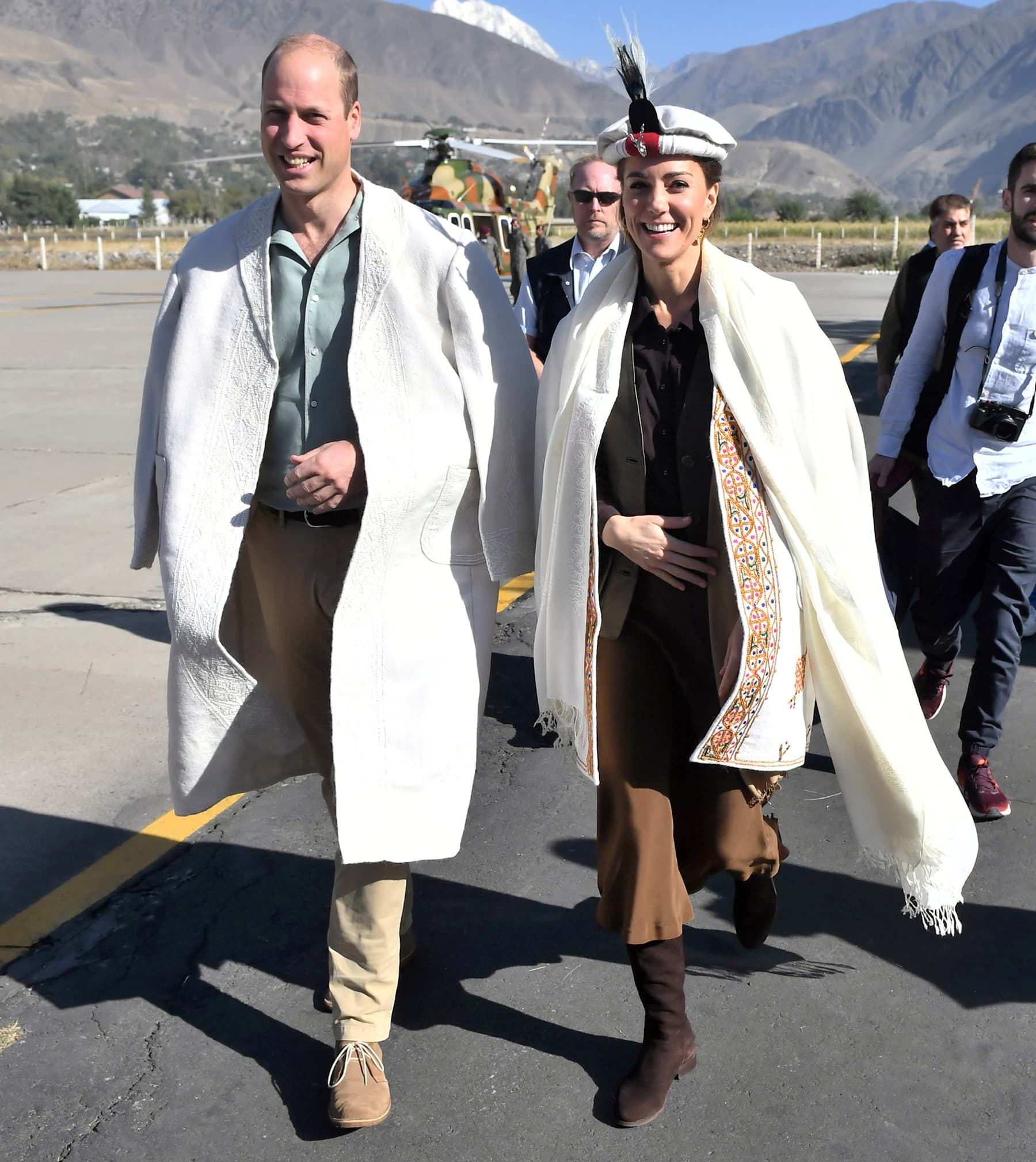 Prince William and Catherine, Duchess of Cambridge arrive in Chitral. — Reuters