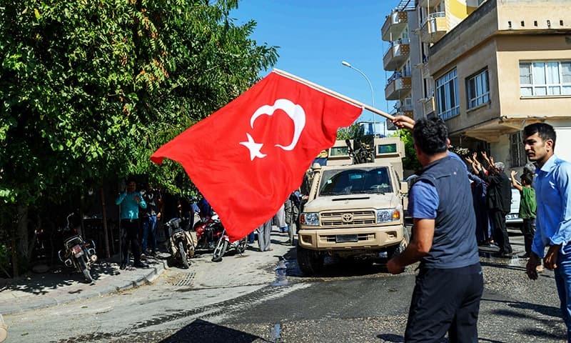ترک فوج نے کرد باغیوں سے 100 کلومیٹر کا علاقہ واگزار کرالیا ہے—فوٹو:اے ایف پی