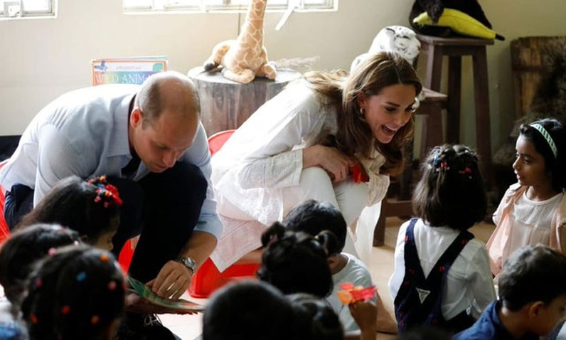 The couple visit the SOS Children's Village in Lahore. — Photo via Radio Pakistan