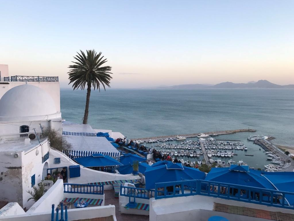 Cafe des Delices is an ideal spot to unwind with views of the Gulf of Tunis.