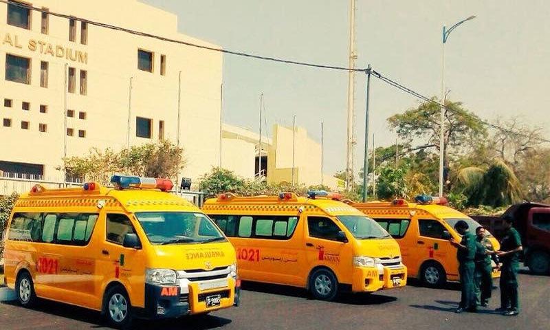 امن فاؤنڈیشن ایمبولینس سروس عطیات کی بل بوتے پر چلائی جاتی تھی لیکن اب یہ صوبائی حکومت کی فنڈنگ پر انحصار کرتی ہے—تصویر فیس بک
